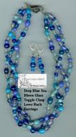 Deep Blue Sea Jewelry Set by leopardwolf
