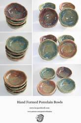 Hand Formed Porcelain Bowls