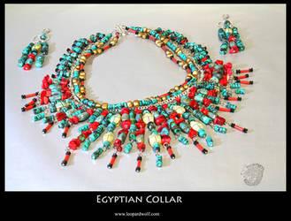 Egyptian Collar by leopardwolf