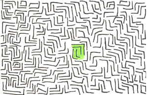 Green Maze ACEO ATC by leopardwolf