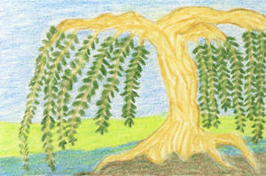 Weeping Tree 1 ATC by leopardwolf
