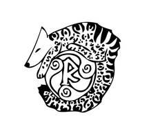 Stylized Lhunie Logo by leopardwolf