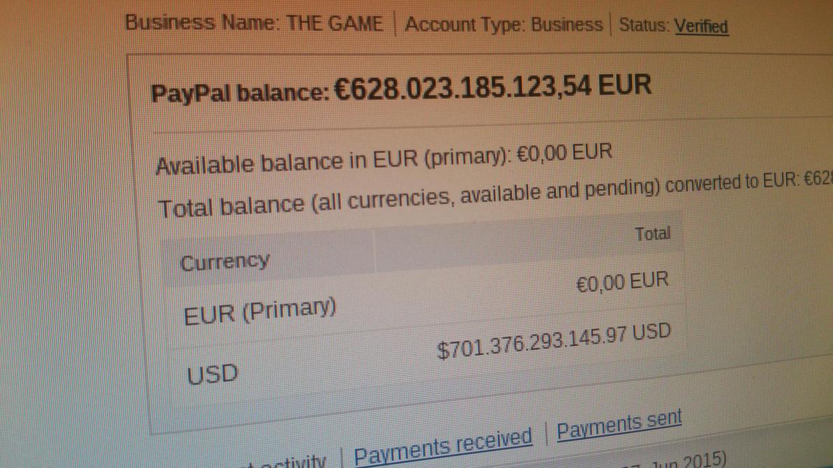 Fake PayPal Balance by qubodup