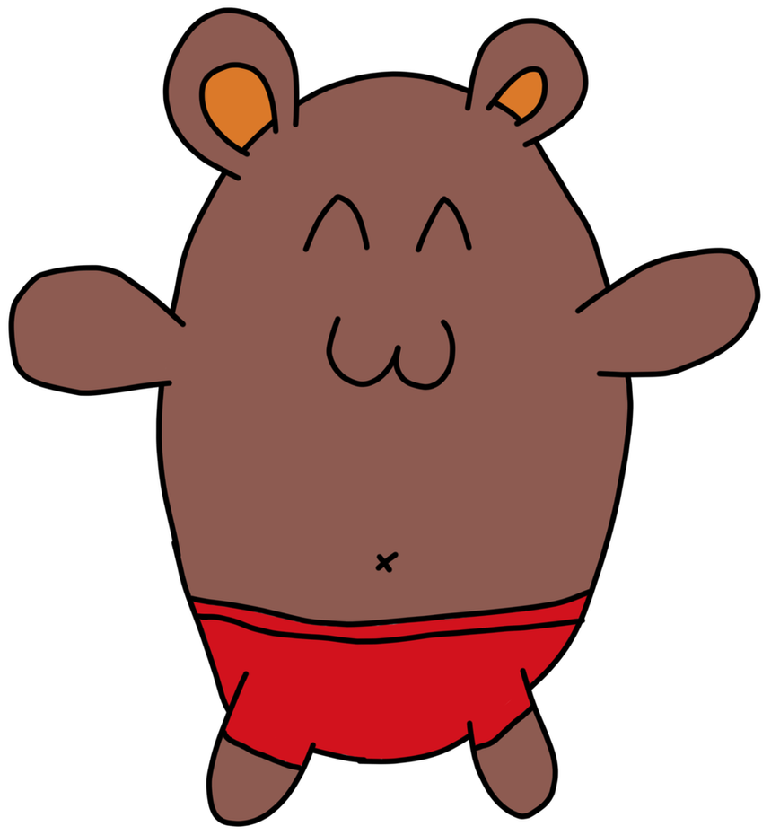 Bear in Red Underpants by qubodup