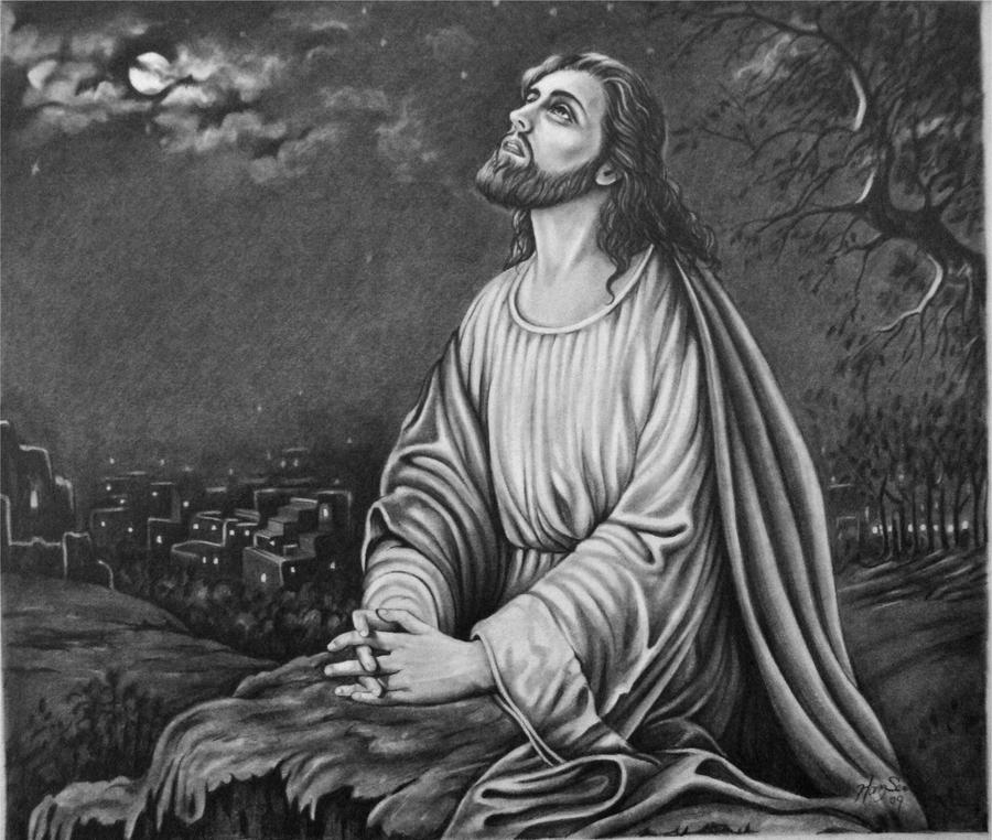 Jesus Praying At Gathsemane By Hongmin On DeviantArt