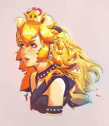 bowsette sketch by asevc