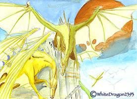 Dragons Watercolour