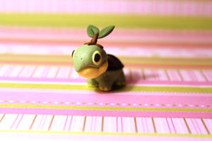 front view turtwig desk buddy