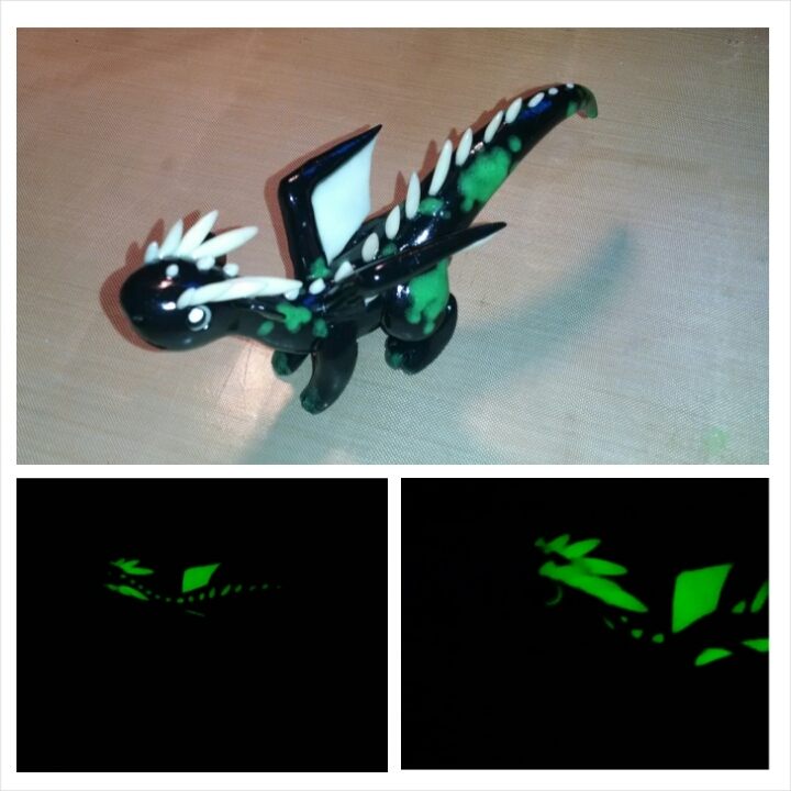 Glow in the dark Toxic Dragon by KiwiPheonix