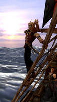 Sathrian Raksha and Thacios sailing -front-