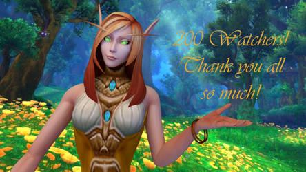 200 Watchers to Thank! by WolfjeLina