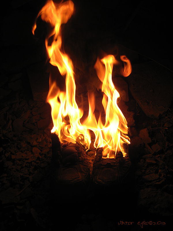 Burning Shoe By Viktor Cylo by ViktorCylo