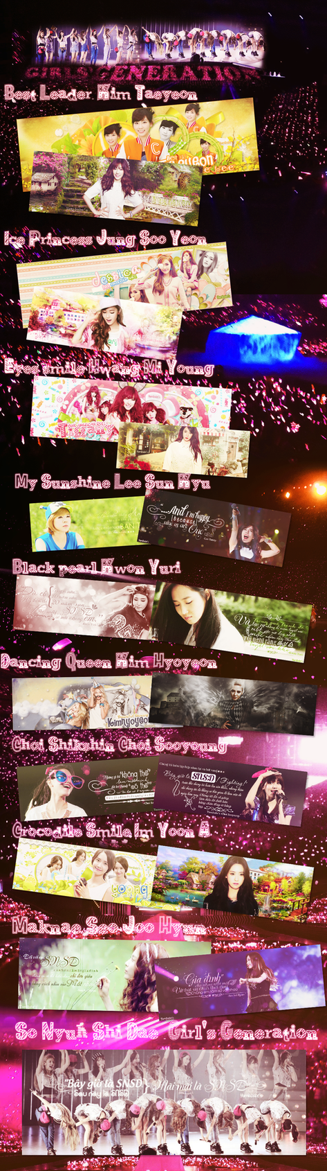 Happy 7th Anniversary Of SNSD by Yumibabe