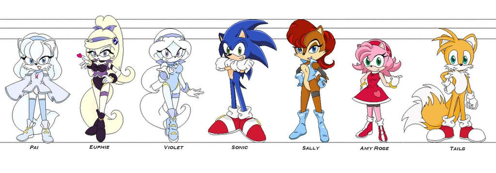 Sonic GForce line up by Eszra01 on DeviantArt