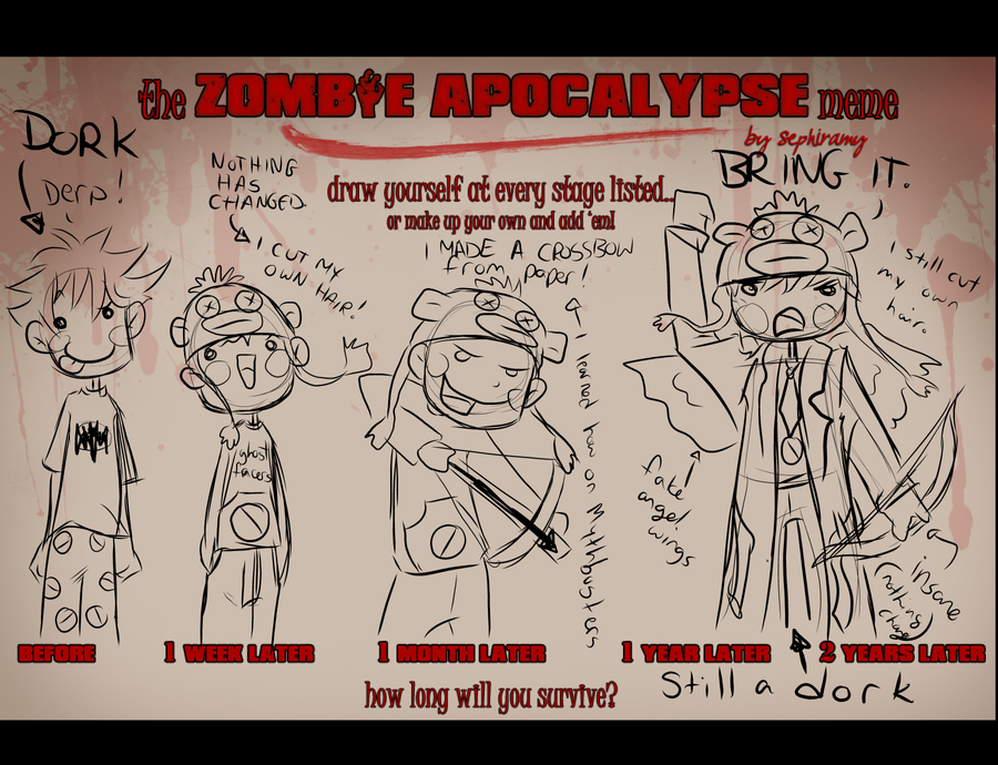 Zombie Apocalypse Meme by ZoeyFagerlid