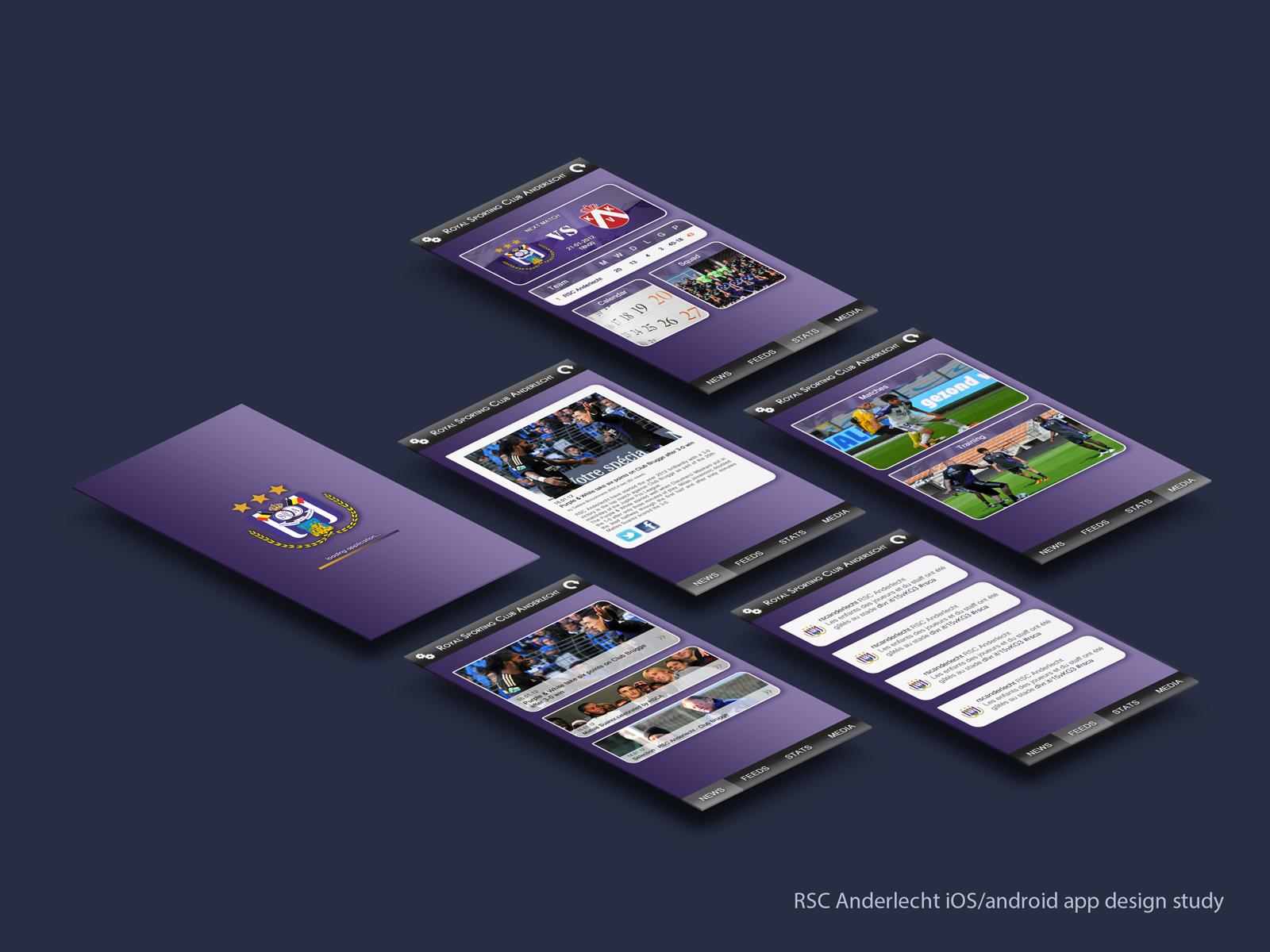 rsc anderlecht iosandroid app design study by luisfccorreia
