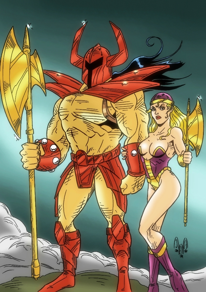 Death Adder and Miss Demeanor Storchinaya by violencejack666