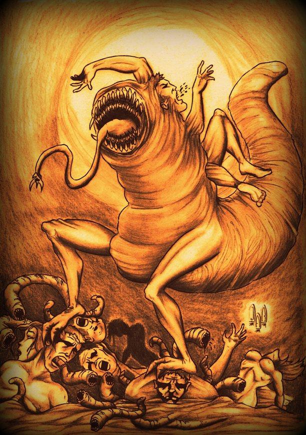 Parasite Worm-man by violencejack666