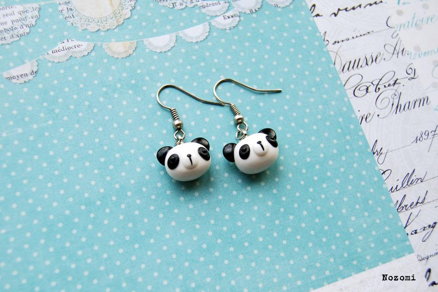 panda earrings by Nozomi21