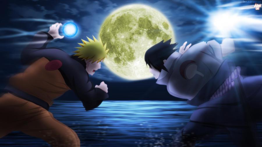 Naruto vs Sasuke Batalla bajo la luna by TheALM