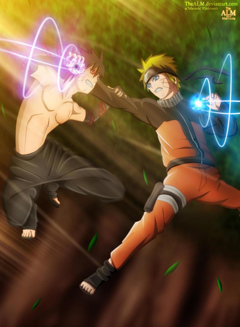 Naruto vs Menma by TheALM