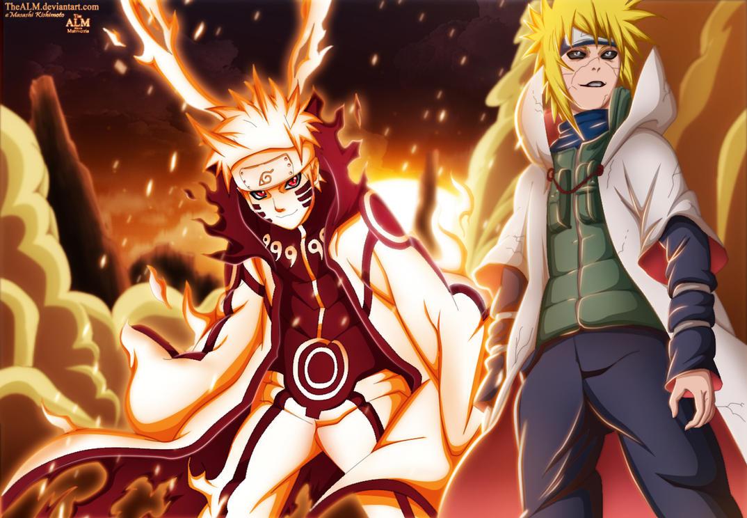 Naruto Kurama And Edo Minato by TheALM