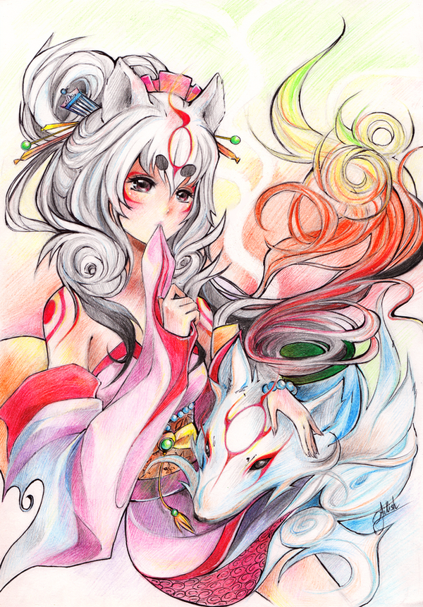 Okami Amaterasu by Princess--Ailish