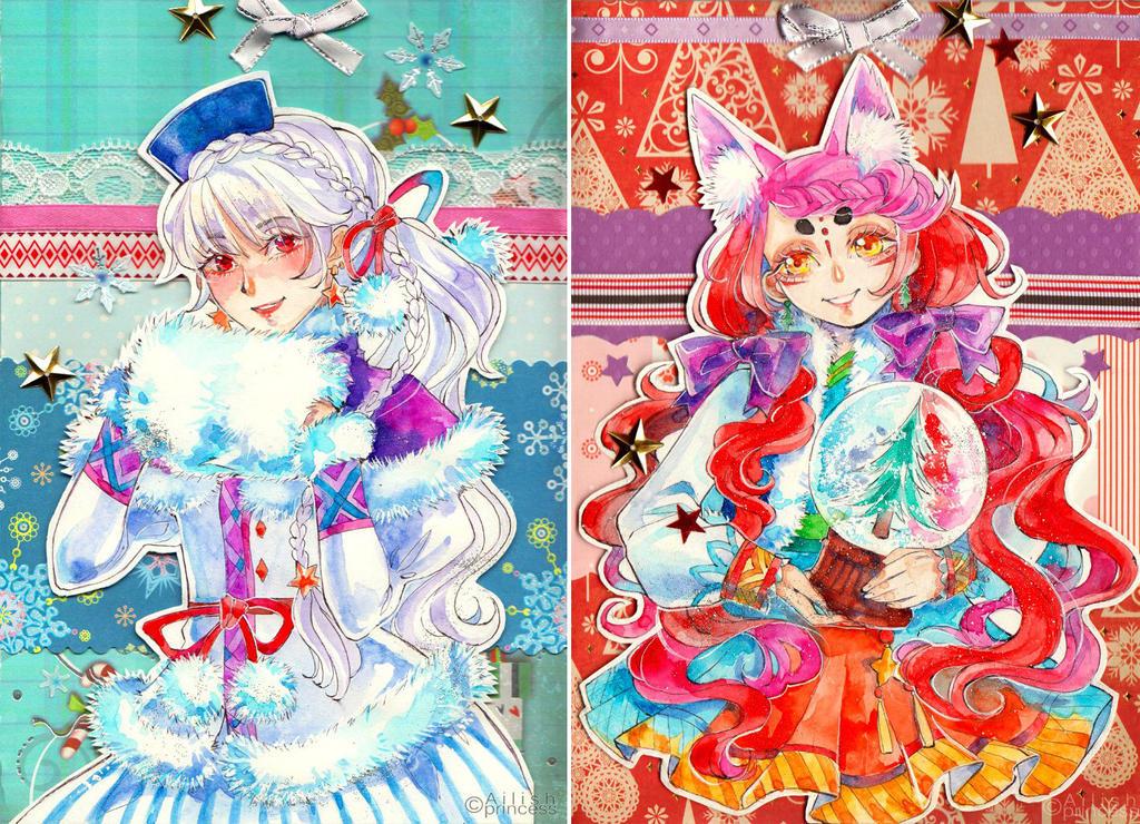 New Year cards by Princess--Ailish