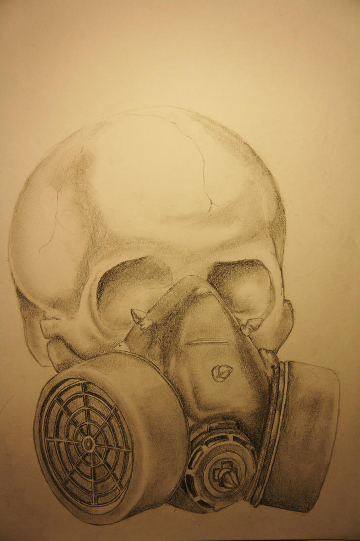 Skull Gas Mask Drawings Skull With Gas