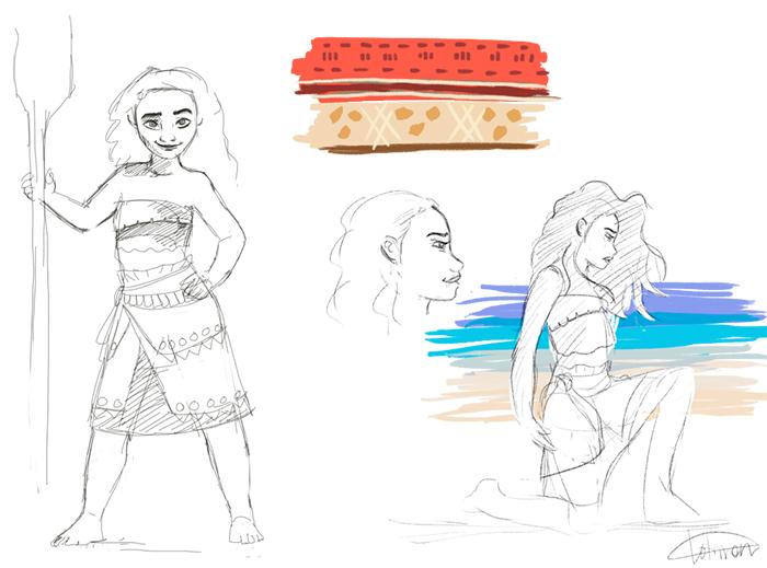 Moana - sketches by JuuxMiko