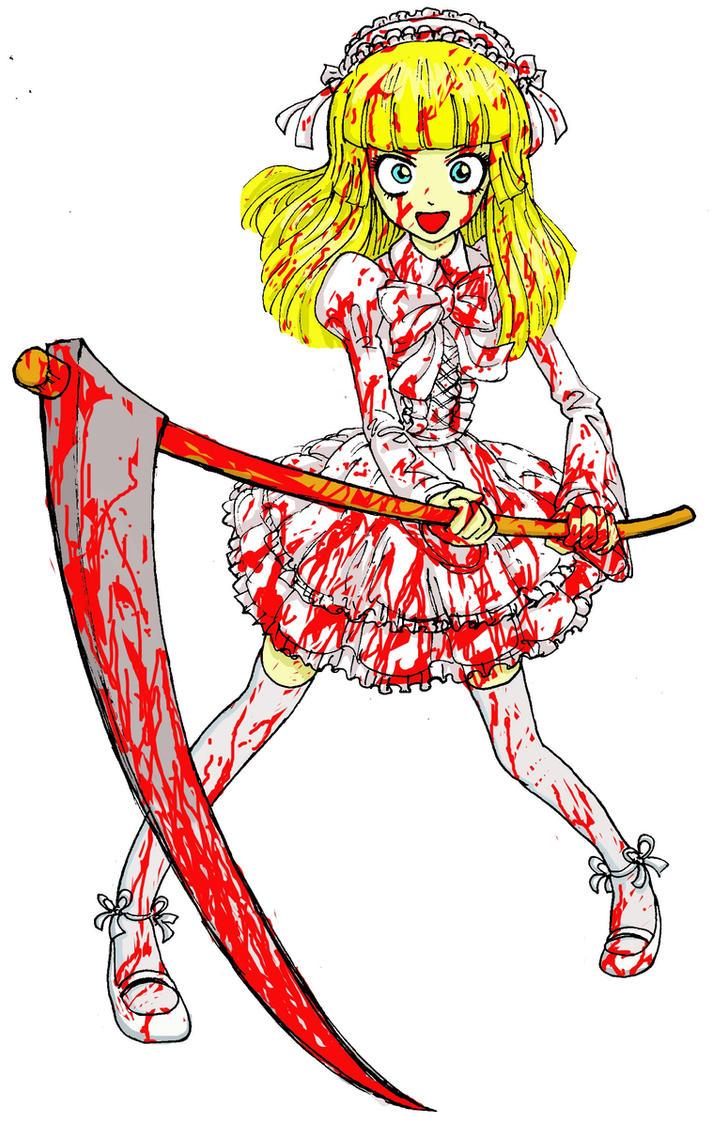 White gothic lolita girl by takena-n