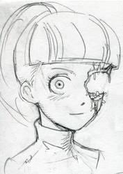 ponytail cyborg by takena-n