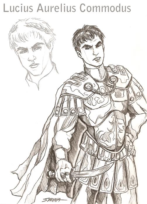 Roman Gladiator Drawing Lucius commodus from gladiator Gladiator Sword ...