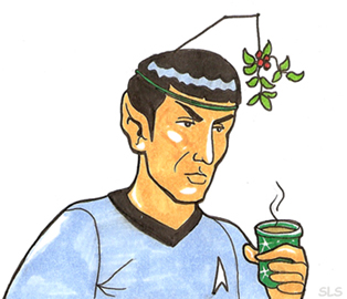 Spock at Ships Christmas Party by SlayerSyrena