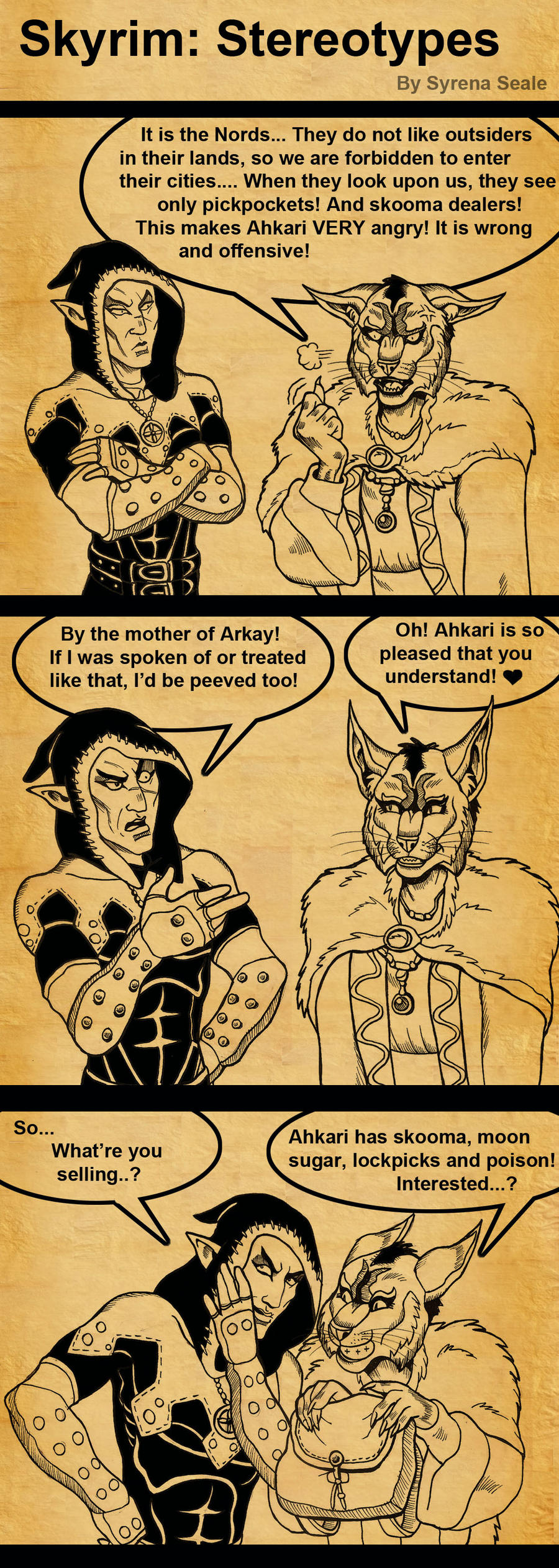 Skyrim Stereotypes by SlayerSyrena