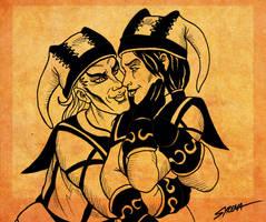 Cicero and Hecate by SlayerSyrena