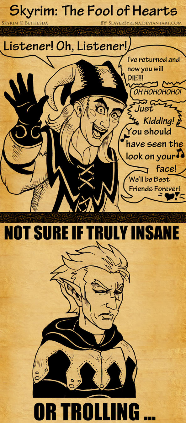Skyrim: The Fool of Hearts by SlayerSyrena