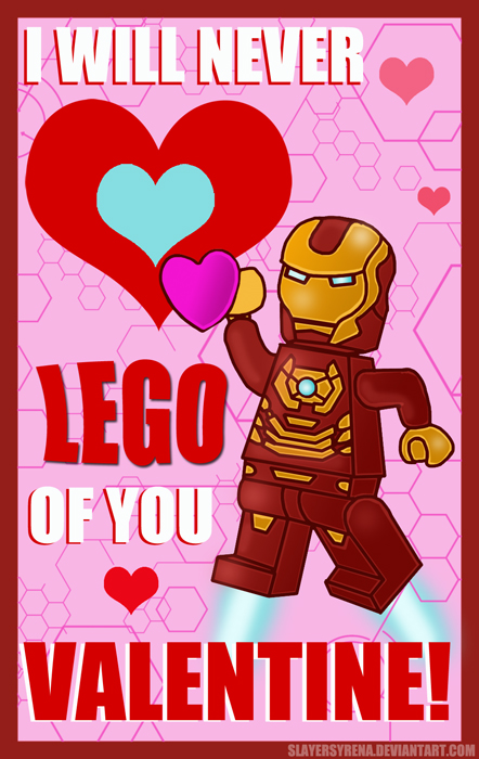 LEGO Valentine: Iron Man by SlayerSyrena
