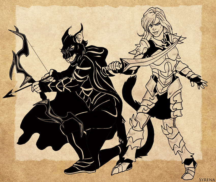 Rhaks and SilverEye by SlayerSyrena