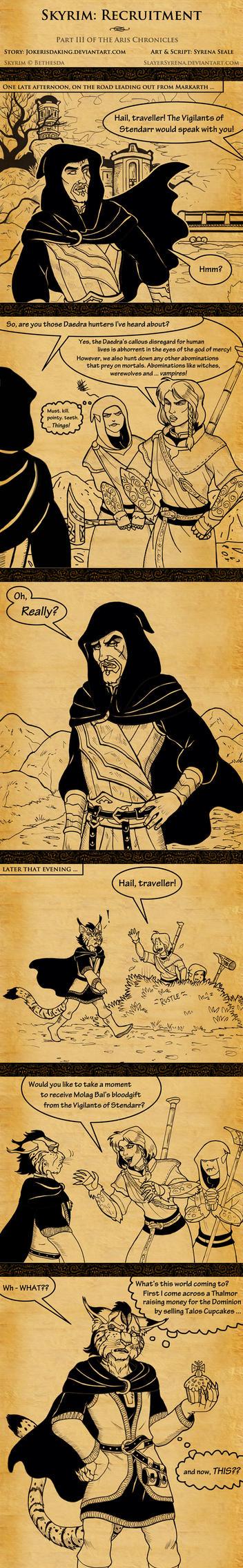 Skyrim: Recruitment by SlayerSyrena