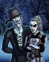 Sir Cadwell and Auron Longshore by SlayerSyrena