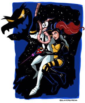 Earthworm Jim and Princess Whats-Her-Name!
