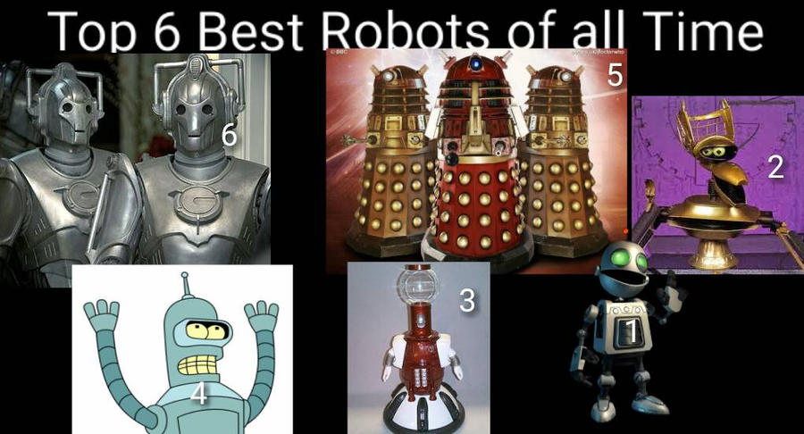 My Top 6 Best Robots of all Time  by MikeCarter2018 on