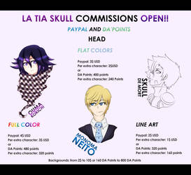 EMERGENCY PAYPAL AND POINTS COMISSIONS SHEET 1 by NanamiDarkfox