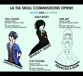 EMERGENCY PAYPAL AND POINTS COMISSIONS SHEET 2 by NanamiDarkfox