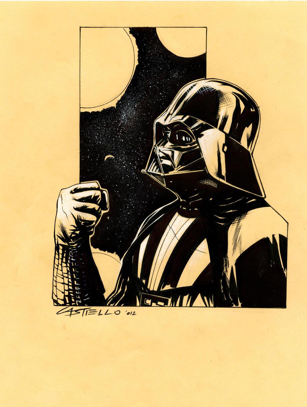 Darth Vader sketch by marcocastiello on DeviantArt