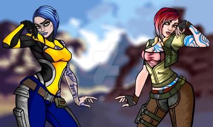 Maya and Lilith! by thedisabledspider