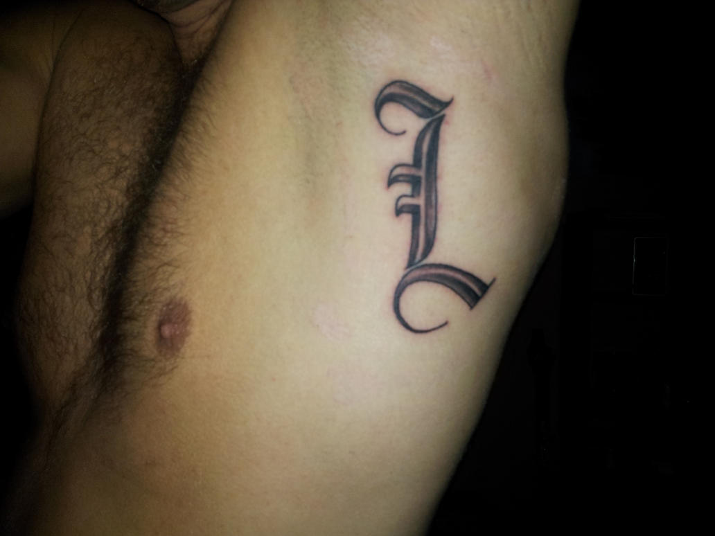 Letter l tattoo own modification by xmikkex1 on deviantart for Letter r tattoo