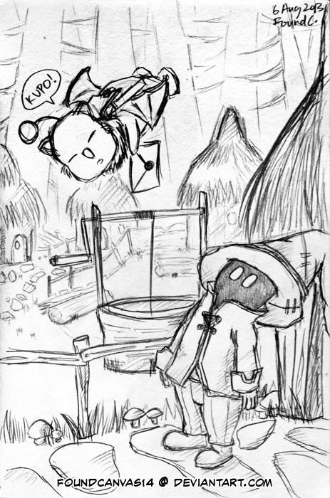 A Letter for Vivi (in Black Mage Village) by foundcanvas14