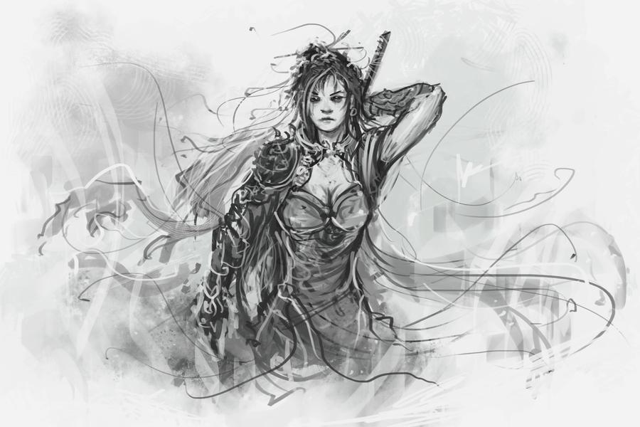 Female warrior by saleemakhtar
